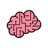 Brain Icon Royaltyfri Bild