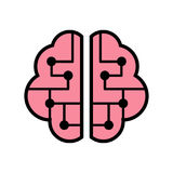 Brain Icon Arkivfoto