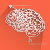 Brain. Icon background illustration stock illustration