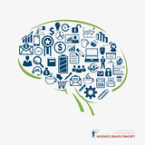 Brain icon business concept Royalty Free Stock Photography