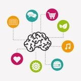 Brain icon design Stock Photography
