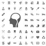 Brain Icon Ensemble médical et d'hôpital d'icône de vecteur illustration libre de droits