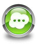 Brain icon glossy green round button Royalty Free Stock Photo