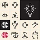 Brain Icon Idée d'échange d'idées Images libres de droits