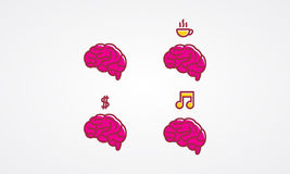 Brain Icon Stock Photos