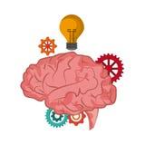 Brain icon. Thinking design. Vector graphic Stock Photo