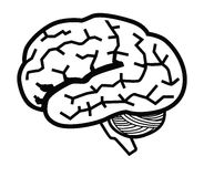 Brain icon Stock Photography