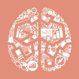 Brain icon Stock Images