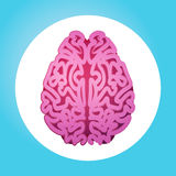 Brain Icon World Mental Health dag 7 April Global Holiday Concept Royaltyfria Foton