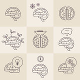 Brain icons Royalty Free Stock Photo