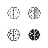 Brain icons set Royalty Free Stock Image