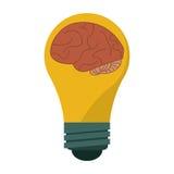 Brain idea bulb concept Royalty Free Stock Photography