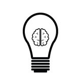 Brain idea. Bulb brain idea icon vector Royalty Free Stock Photo