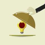 Brain idea bulb menu. EPS 10 VECTOR Stock Photography