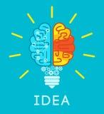 Brain Idea Concept Fotografie Stock Libere da Diritti