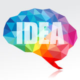 Brain and idea Stock Images