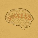 Brain Idea para o sucesso ou a inspiração ilustração stock