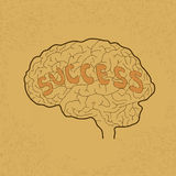 Brain Idea for Success or Inspiration Stock Images