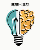 Brain and ideas business concept illustration Stock Photos