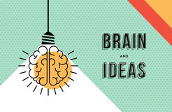 Brain and ideas concept in modern line art design Stock Photos
