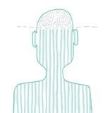 Brain Ideas/dalla mente Fotografie Stock Libere da Diritti