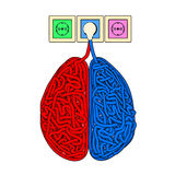 Brain. Illustration of brain in the form of tangled electric cables Royalty Free Stock Photo
