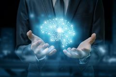 The concept is the artificial intelligence . royalty free stock image