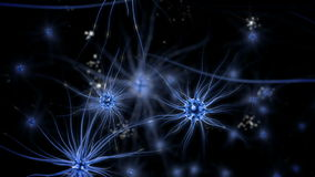 Brain impulses. Neuron system. Human anatomy. Brain work.  transferring pulses and generating information. stock footage