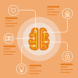 Brain infographic concept. Mind and memory data icons. Vector illustration and background Stock Photo