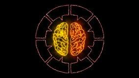 Brain 006 - Infographic 4K Neon. Brain Neon - Human Body vector illustration