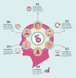 Brain Infographics Royalty-vrije Stock Foto