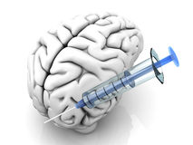 Brain Injection Royalty Free Stock Photo