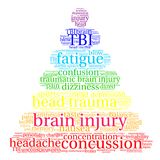 Brain Injury Word Cloud illustration stock