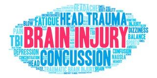 Brain Injury Word Cloud Illustration Libre de Droits