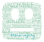 Brain Injury Word Cloud Photographie stock
