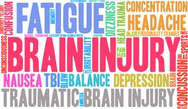 Brain Injury Word Cloud. On a white background Stock Image