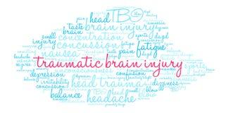 Brain Injury Word Cloud traumatique Illustration de Vecteur
