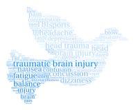 Brain Injury Word Cloud traumatique Illustration Stock