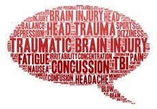 Brain Injury Word Cloud traumatique Illustration Libre de Droits