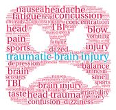 Brain Injury Word Cloud traumatique Photographie stock