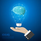 The brain innovative lamp. Big idea Stock Photos