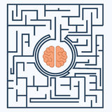 Brain inside the maze Stock Photos
