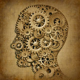 Brain intelligence grunge machine medical symbol stock illustration
