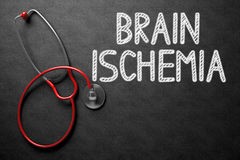 Brain Ischemia Handwritten sur le tableau illustration 3D Photos stock