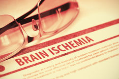 Brain Ischemia Medicin illustration 3d Arkivbilder