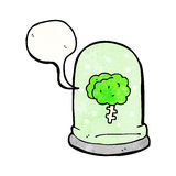 Brain in jar cartoon Royalty Free Stock Photography