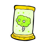 Brain in jar cartoon Stock Photo