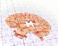 Brain jigsaw puzzle. Memory concept illustration Stock Photography