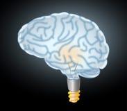 Brain lamp eureka Royalty Free Stock Image