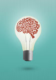 Brain lamp Royalty Free Stock Photos